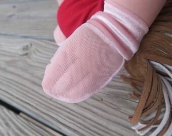 Pink Velvet No Scratch/Eczema Mesh Mittens (baby/toddler/child)