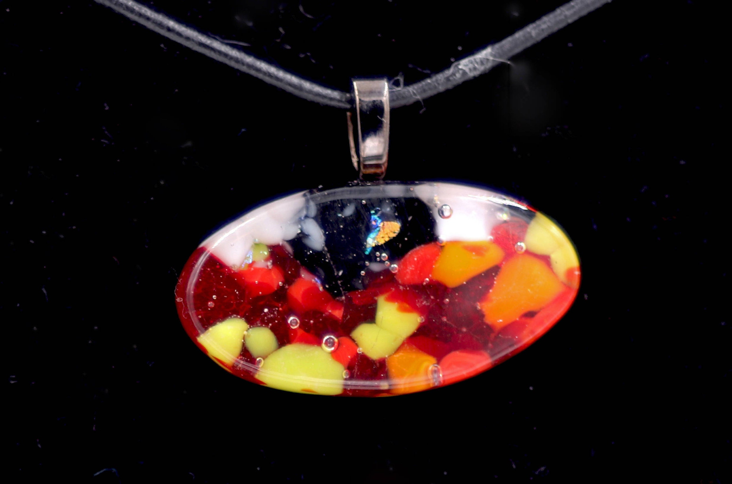 Hot and Cold Dichroic Glass Pendant