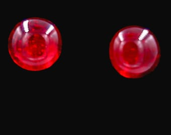 Tiny Red Post Earrings
