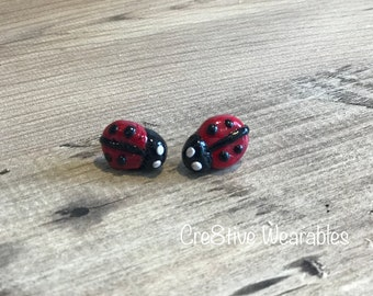 Ladybird Clay Stud Earrings