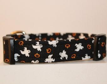 7429970f Halloween dog collar, Ghost dog collar, Handmade dog collar, Custom dog  collar
