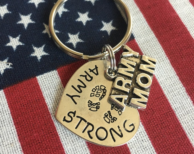 Army Mom Keychain | Army Keychain Deployment Keychain | Army | Army Mom | Army Wife