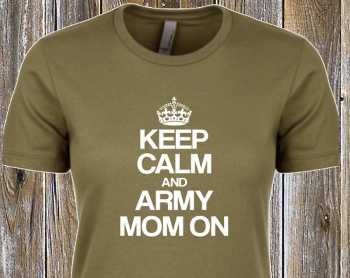 Army Mom T-Shirt | Deployment shirt | Customize | Marine shirt | Air Force shirt Navy shirt