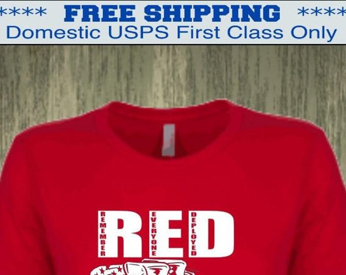 RED Friday Shirt  | Deployment shirt | Army shirt | Marine shirt | Air Force shirt Navy shirt | Army Mom | Marine Mom