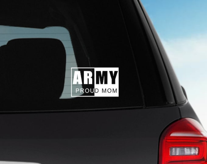 Army Mom window decal | Army Mom | Navy mom | Deployment | Military Mom
