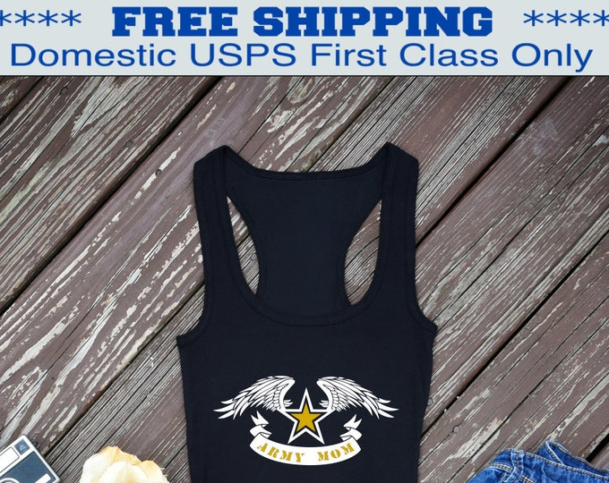 Army Mom Tank Top | Army shirt | Military shirt | Army Mom shirt | Deployment shirt