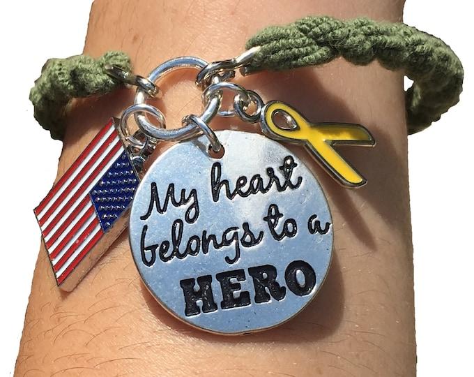 Boot Band Bracelet   Deployment   Army Marine Bracelet  Army Mom   Army Wife Marine Mom   Marine Wife