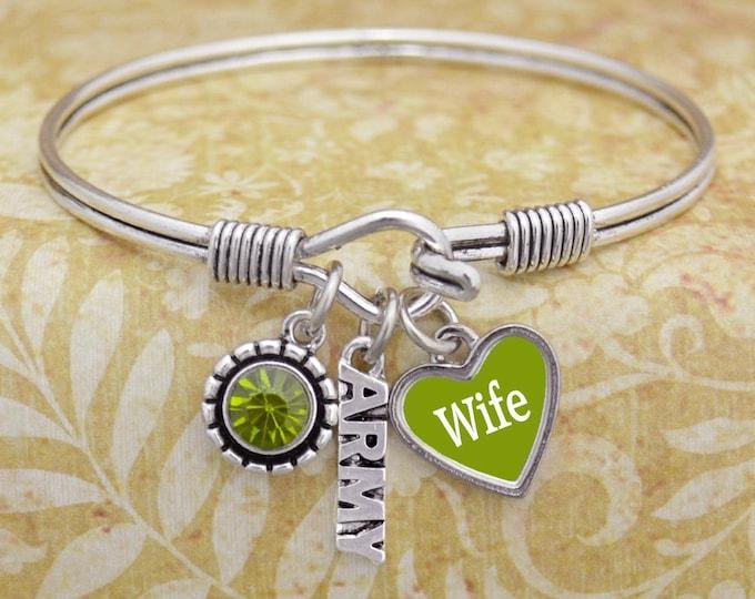 Army Wife Bracelet | Army Mom Bracelet | Deployment Bracelet | Army Military Mom Bracelet | Army Wife
