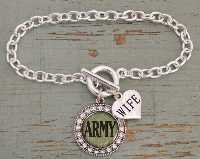 Army Mom Bracelet | Army Wife | Military Mom Bracelet | Army Mom | Army Wife Bracelet | Deployment