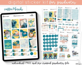 COD1333 Goodnotes stickerswatercolor digital stickers  Goodnotes  pre-cropped filesdecorative stickersPlanner StickersHand drawn