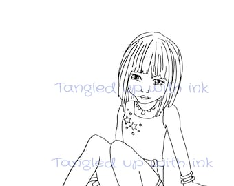 digital stamp-digi stamp-card making-sitting down