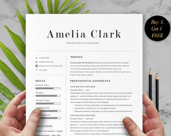 Administrative Assistant Resume, Admin Resume Template, Cover Letter, Resume  Format Word, Assistant