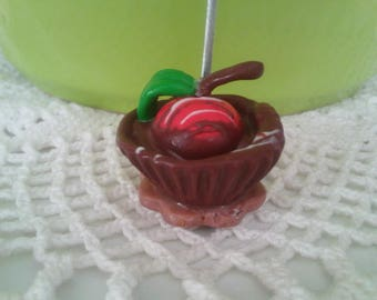 Photo holder or sticky Chocolate Cherry Fimo