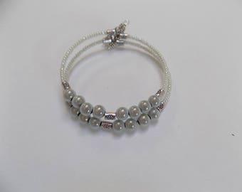 Gray Pearl double strand bracelet