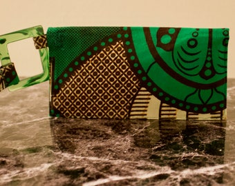 Wrist Wallet  - African Print