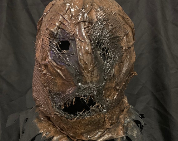 Scarecrow Latex to Fabric Full Head Mask
