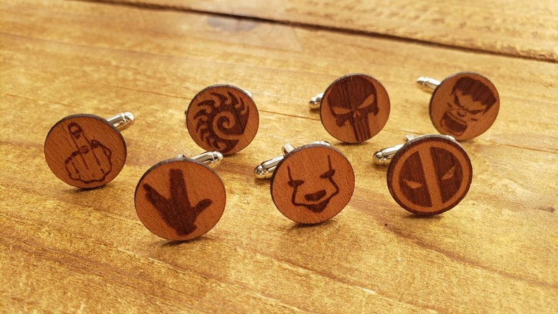 several styles Unique and fun cuff links