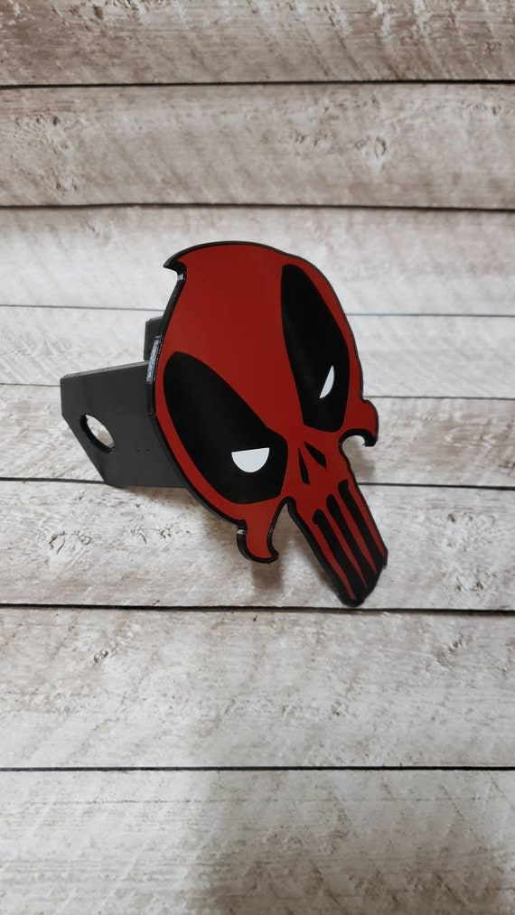 Deadpool Punisher mashup Hitch Cover