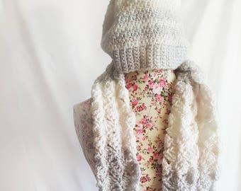 Matching Crochet Hat & Scarf Set | Arctic