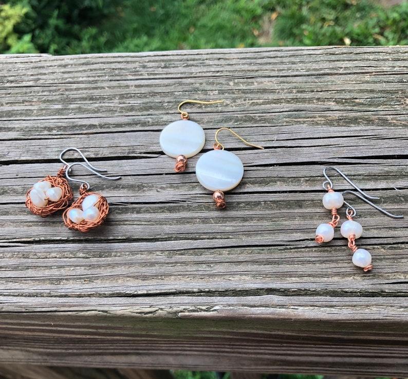 Pearl Dangle Earrings image 0