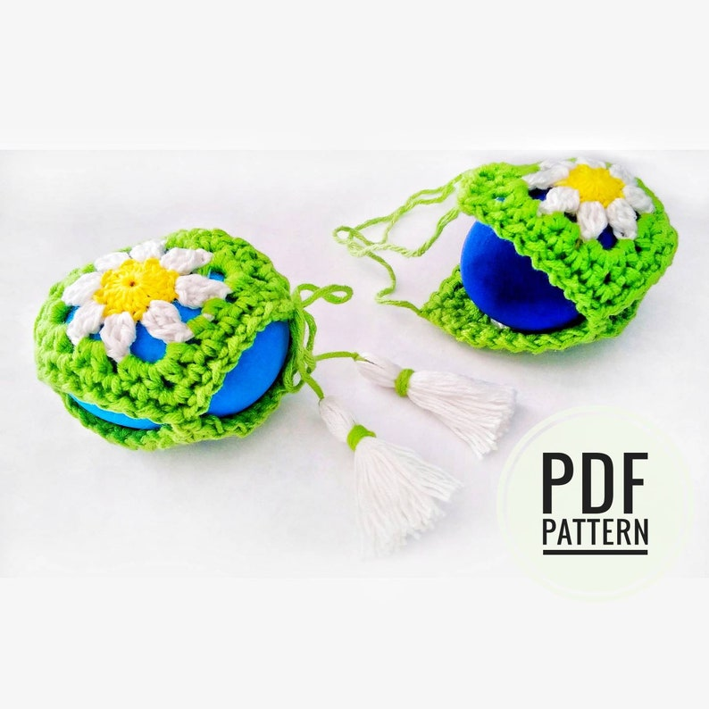 Free Crochet Pattern Easter Crochet Egg Holder Easter Table image 0