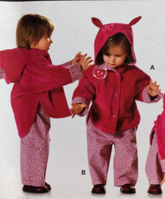 c560d8a11ac Burda 9780 Sewing Pattern Infant Toddler Hoodie Jacket