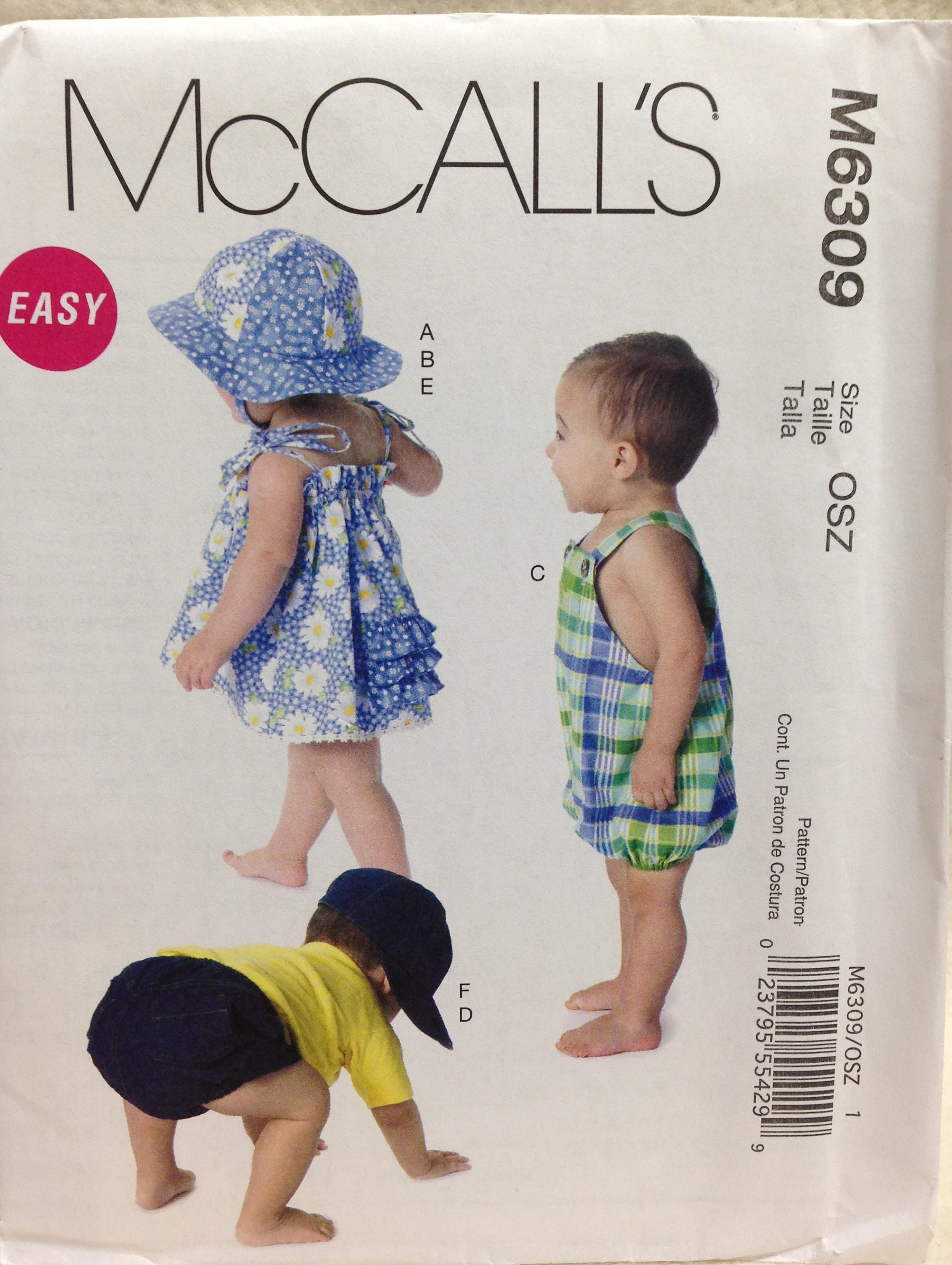 McCalls M6309 Sewing Pattern Infant Dress Infant Panties | Etsy