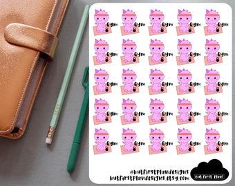 Kawaii Gym Tracker Planner Stickers For Planners, Bullet Journals, Scrapbooking // Erin Condren, Happy Planner, Filofax