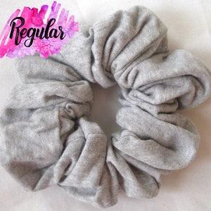 White Cotton Jersey ChouChous Hair Scrunchies 6 Sizes Cotton Scrunchie White Scrunchie Scunci