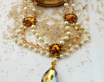 Vintage Style Necklace & Earrings