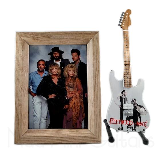 Frame 5X7 Photo Miniature Guitar JIMI HENDRIX with Stand