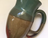 Beautiful Unique Double Handle Pottery Jug Signed Handcrafted Pottery