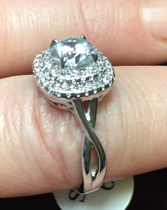 1764e44adf72 Swarovski crystal ring, jewelry, costume jewelry, size 6, bling, sparkly,  finger ring, rings