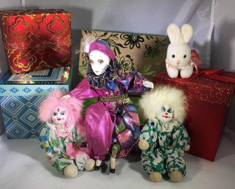 Vintage Porcelain Clown Dolls