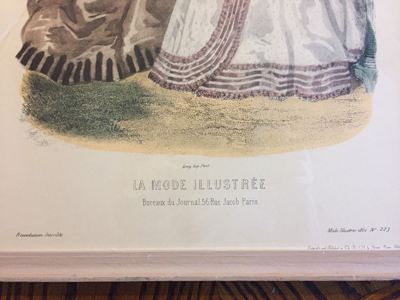 Antique french la mode illustree reville paris fashion