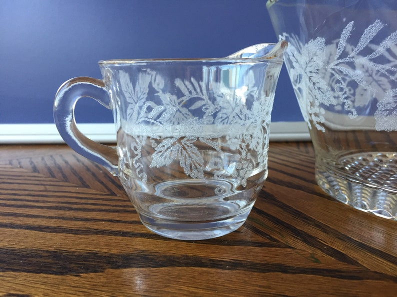 Kind-Hearted Antique Glass Creamer Container Canisters & Jars Kitchen, Dining & Bar