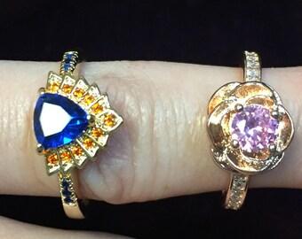Crystal Rings, swarovski crystal, rose, Egyptian, costume jewelry, crystal jewelry, swarovski jewelry, ring, crystal ring, swarovski ring