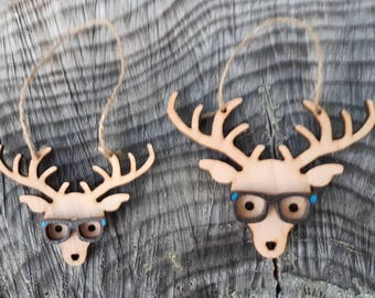 Hipster Reindeer Christmas Decoration