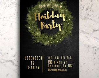 holiday party invitation custom printable company holiday party editable printable christmas party hoilday invitation