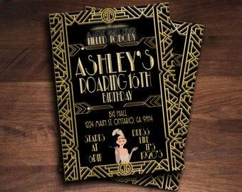 gatsby invitations etsy