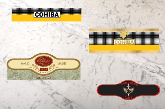 It is a photo of Free Printable Cigar Labels with editable