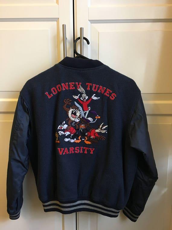 RARE Vintage Looney Tunes Varsity Jacket Kids XL/Womens Small   Etsy