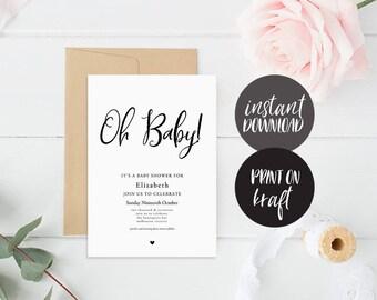 baby naming invite etsy