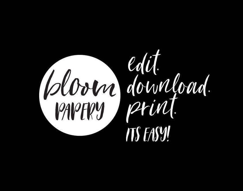 Elopement Announcement We Eloped INSTANT DOWNLOAD Juliette Elopement Editable pdf Template Wedding Elope Invitation Printable