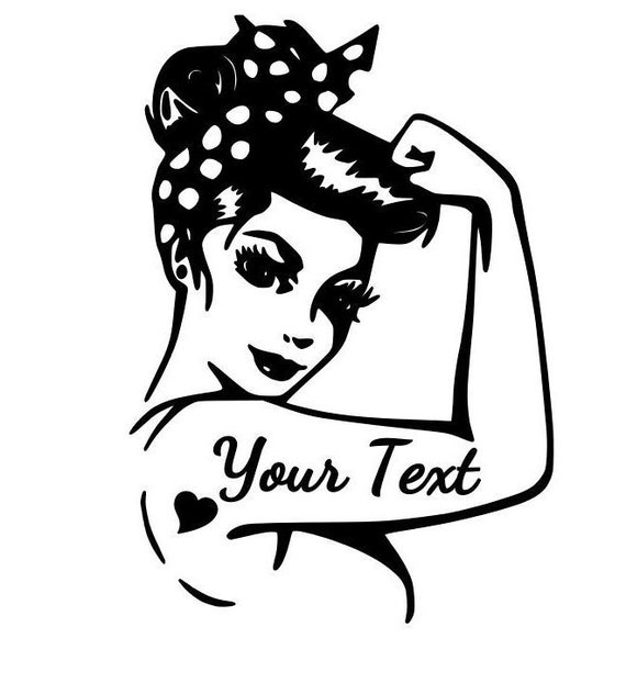 rosie the riveter tattoo girl your name text car suv etsy Red Jeeps image
