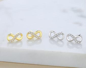Silver Infinity Eternal Sempiternal Earrings Spirituality Meditation Buddha