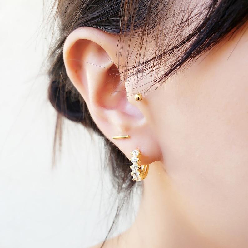 b96d3928c Cartilage Hoop Earrings Huggie Hoops Conch Earrings   Etsy