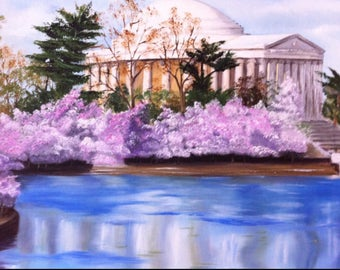 Thomas Jefferson Memorial Oil on Canvas/available upon request/3 weeks