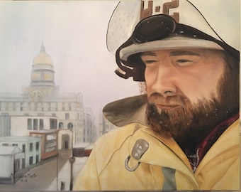 My Brave Fireman/portrait upon request