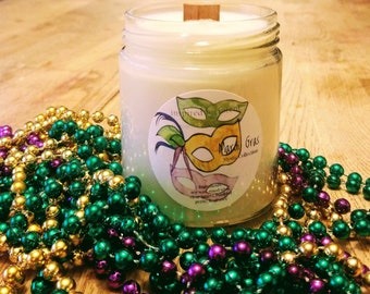 Mardi Gras Candle | Intention | Celebration | Boho | Soy Wax | Fat Tuesday | Mystic | Indulgence | Ritual | Carnival | New Orleans | Beads